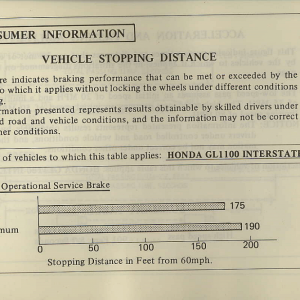 Owners Manual- 1981 GL1100 Interstate Page 89