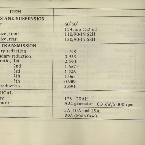 Owners Manual- 1981 GL1100 Interstate Page 94