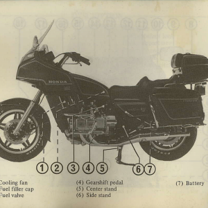 Owners Manual- 1982 GL1100 Interstate Page 12