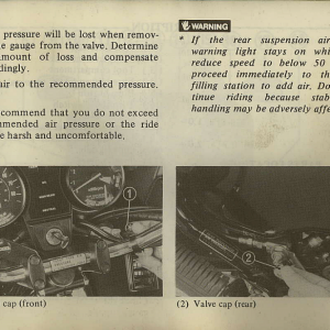 Owners Manual- 1982 GL1100 Interstate Page 9
