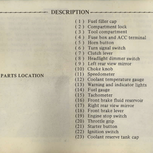Owners Manual- 1982 GL1100 Interstate Page 10