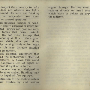 Owners Manual- 1982 GL1100 Interstate Page 4