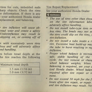 Owners Manual- 1982 GL1100 Interstate Page 6