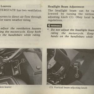 Owners Manual- 1982 GL1100 Interstate Page 26
