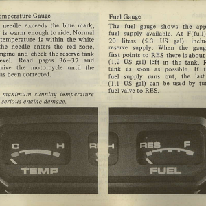 Owners Manual- 1982 GL1100 Interstate Page 19