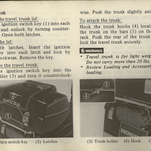 Owners Manual- 1982 GL1100 Interstate Page 27