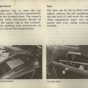 Owners Manual- 1982 GL1100 Interstate Page 29