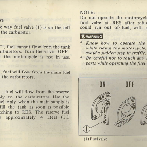Owners Manual- 1982 GL1100 Interstate Page 31