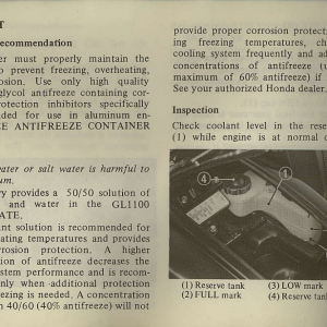 Owners Manual- 1982 GL1100 Interstate Page 36