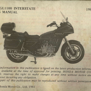 Owners Manual- 1982 GL1100 Interstate Preface Page 2