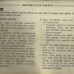 Owners Manual- 1982 GL1100 Interstate Page 1