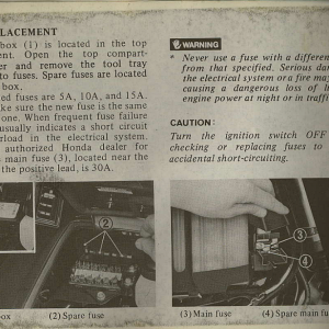 Owners Manual- 1982 GL1100 Interstate Page 54