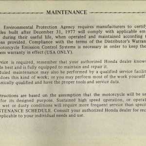 Owners Manual- 1982 GL1100 Interstate Page 56
