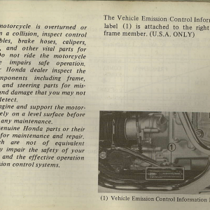 Owners Manual- 1982 GL1100 Interstate Page 57