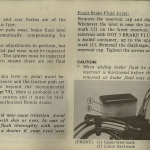 Owners Manual- 1982 GL1100 Interstate Page 70