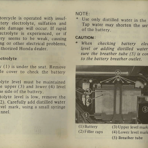 Owners Manual- 1982 GL1100 Interstate Page 74