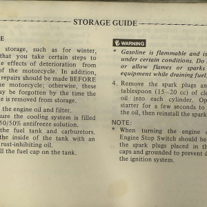 Owners Manual- 1982 GL1100 Interstate Page 77