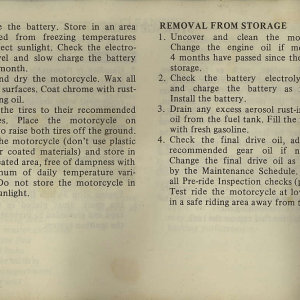 Owners Manual- 1982 GL1100 Interstate Page 78