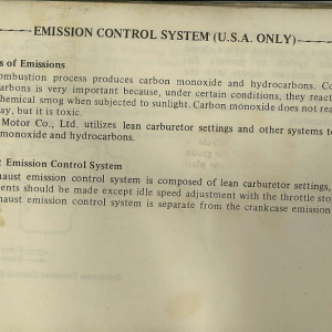 Owners Manual- 1982 GL1100 Interstate Page 79