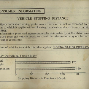 Owners Manual- 1982 GL1100 Interstate Page 82
