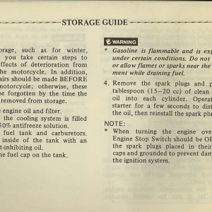 Owners Manual- 1982 GL1100 Standard Page 72