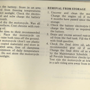 Owners Manual- 1982 GL1100 Standard Page 73