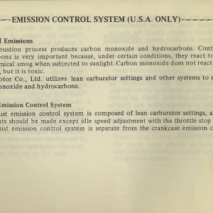 Owners Manual- 1982 GL1100 Standard Page 74