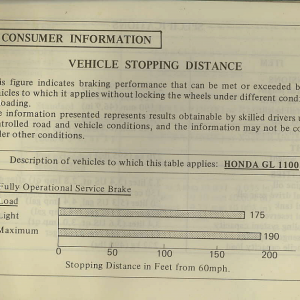 Owners Manual- 1982 GL1100 Standard Page 77