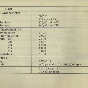 Owners Manual- 1982 GL1100 Standard Page 80