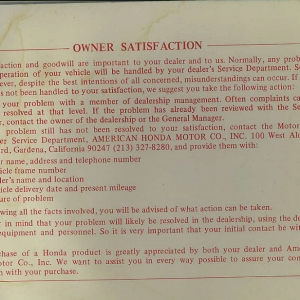Owners Manual- 1982 GL1100 Standard Page 82