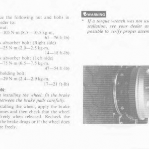 Owners Manual- 1986 GL1200 Interstate Page 74