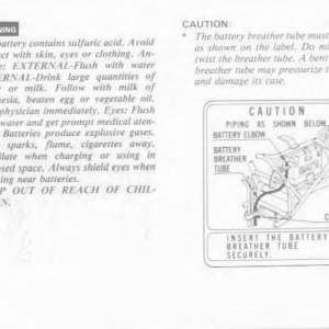 Owners Manual- 1986 GL1200 Interstate Page 78