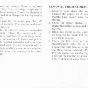 Owners Manual- 1986 GL1200 Interstate Page 84