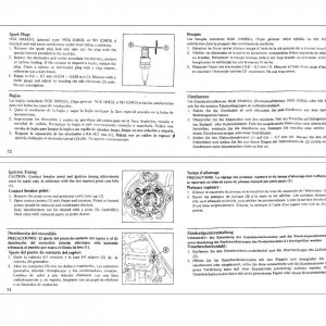 Owners Manual - 1975 GL1000 Pages 72 through 75