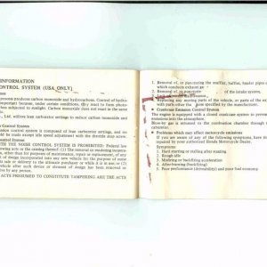 Owners Manual- 1984 GL1200 S-044