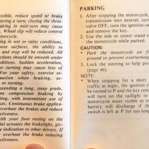 Braking, Parking Page 76 & 77