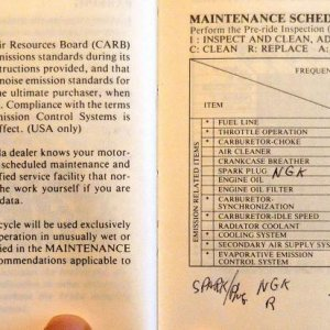 Maintenance and Schedule Page 78 & 79