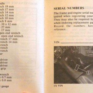 Tool Kit, Serial Numbers Page 82 & 83