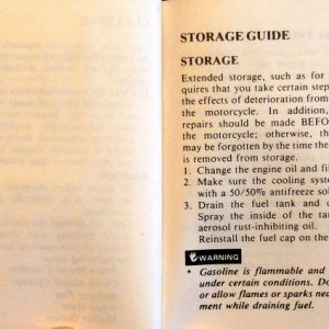 Cleaning, Storage Page 108 & 109