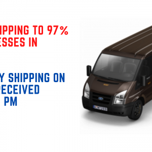 We use UPS 2-day and next-day shipping!
