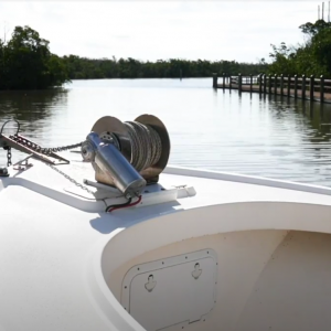 The Patriot EZ-3 on Captain Van Jone's 25' Parker Center Console
