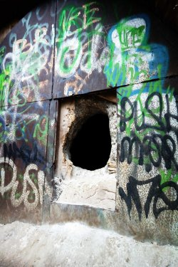 Entrance to ww2 airaid shelter dodge hill  derelictmanchester pintrest.jpg