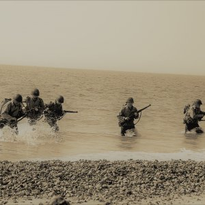 Training for D-Day  on the south coast of England..jpg