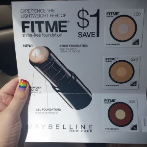 Maybelline FitMe Stick Foundation samples!