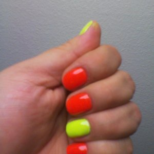 Orange and Yellow Neon