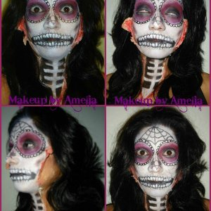 Day of the Dead makeup I did for my sister :)