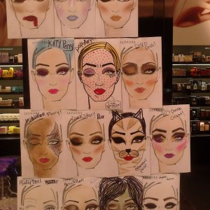i may have went a little crazy making face charts for halloween!  They are so addictive!