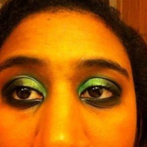my make up after a workout!!! gross!!