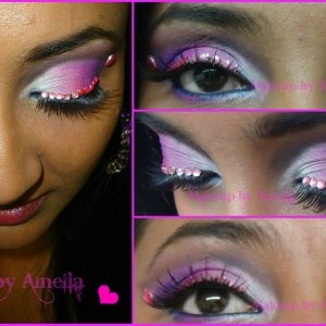 I did my sister-in-law's makeup for Valentines day.  Join my FB page here ---> https://www.facebook.com/AmeliaSecretZen   Please and Thank you <3