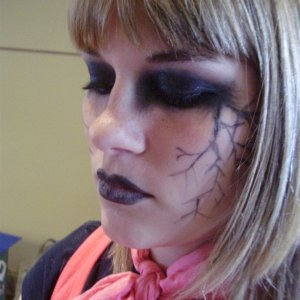 makeup by me, on a girl at school.